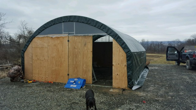 Incubator Update: A new hoop house for the wash station!