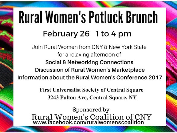 Rural Woman's Potluck Brunch